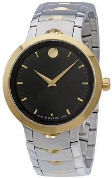 Movado Luno Black Dial Men's Watch