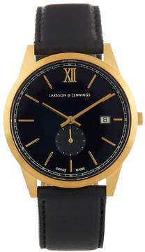 Larsson & Jennings Saxon gold-plated and leather watch