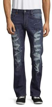 Buffalo David Bitton Faded Distressed Jeans