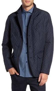Pal Zileri Men's Quilted Field Jacket