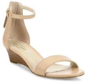 Cole Haan Adderly Leather Ankle-Strap Wedge Sandals