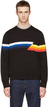 Rag & Bone Black Glitch Graphic Sweater