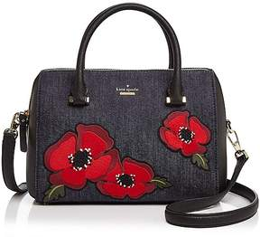 Kate Spade Cameron Street Poppy Large Denim Satchel - PORT BLUE/GOLD - STYLE