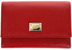 Dolce & Gabbana Dauphine Red Leather Wallet - RED - STYLE