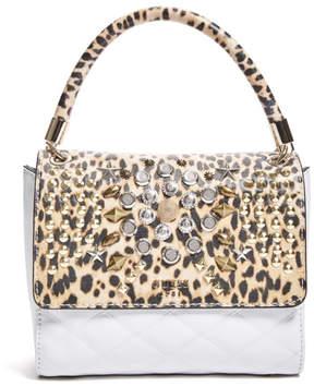 GUESS Leo Studded Top Handle Flap Bag