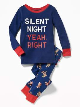 Old Navy Christmas-Graphic Sleep Set for Toddler & Baby