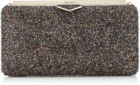 Jimmy Choo ELLIPSE Amethyst Mix Clutch Bag in Twinkle Glitter Fabric