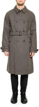 Prada Linea Rossa Check Shetland Coat