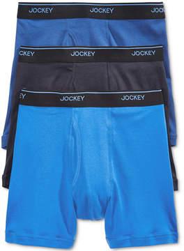 Jockey Men's 3 Pack Essential Fit Staycool + Cotton Boxer Briefs