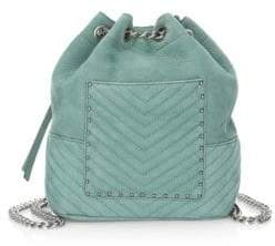 Rebecca Minkoff Becky Convertible Backpack - DUSTY GREEN - STYLE