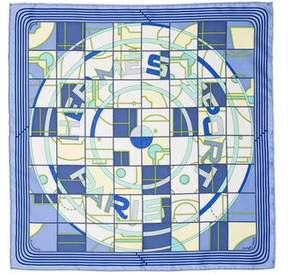Hermes Sport Silk Pocket Square w/ Tags