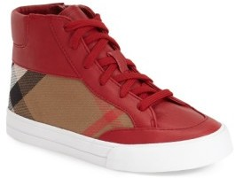 Burberry Toddler Mini Haypark High Top Sneaker