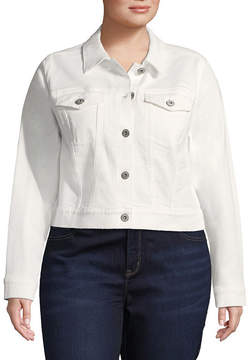 Arizona Crop Denim Jacket-Juniors Plus