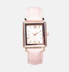 Avenue Blush Faux Leather Strap Watch