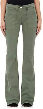 3x1 WOMEN'S W2 COTTON-BLEND MILITARY FLARE PANTS