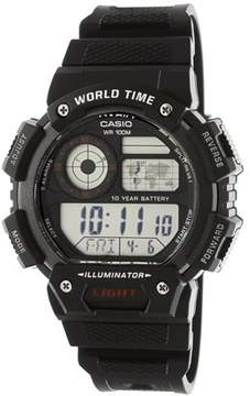 Casio Men's Classic Digital World Time Watch, Black - AE1400WH-1AV