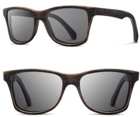 Shwood Men's 'Canby' 54Mm Polarized Wood Sunglasses - Dark Walnut/ Grey