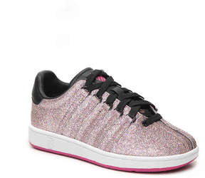 K-Swiss Girls Classic Glitter Toddler & Youth Sneaker