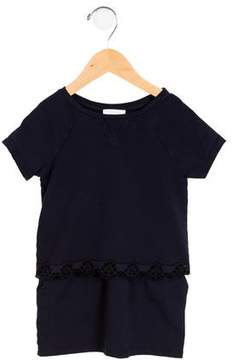 Chloé Girls' Knit Eyelet-Trimmed Dress