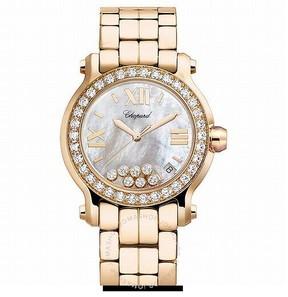 Chopard Happy Sport 18kt Rose Gold Ladies Watch