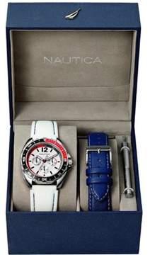 Nautica MEN'S WATCH SPORT RING BOX SET 39MM