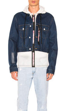 Off-White No Wash Cropped Hooded Jacket