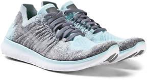 Nike Blue Free Run Flyknit 2017 Junior Trainers