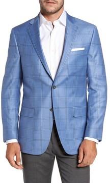 Hart Schaffner Marx Men's Classic Fit Windowpane Wool Sport Coat