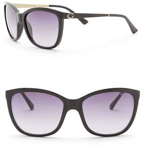 GUESS 58mm Rounded Cat Eye Sunglasses