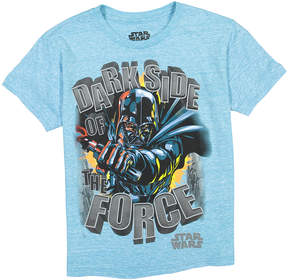 Star Wars Light Blue 'Dark Side of the Force' Tee - Boys