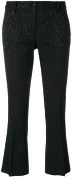 Alberto Biani embroidered cropped trousers