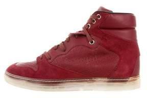 Balenciaga Leather & Suede High-Top Sneakers