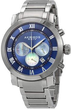 Akribos XXIV Akribos Blue Dial Chronograph Stainless Steel Men's Watch