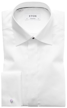 Eton Men's Contemporary Fit French Cuff Tuxedo Shirt