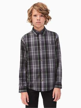 Calvin Klein Jeans Boys Dusk Plaid Shirt