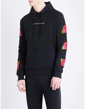 Criminal Damage Rosa cotton-jersey hoody
