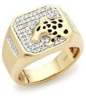 Effy Diamond and 14K Yellow Gold Ring
