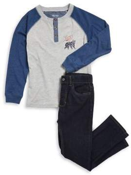 Lucky Brand Little Boy's Raglan Tee and Pants Set