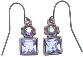 1928 Simulated Sapphire Drop Earrings