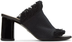 Proenza Schouler Black Canvas Mules