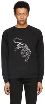 Pierre Balmain Black Embroidered Tiger Sweatshirt
