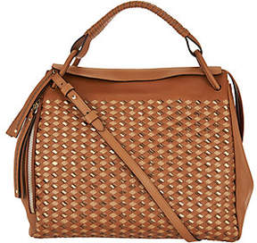 Plinio Visona PLINIO VISONA' As Is Italian Woven Leather Satchel