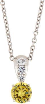 FANTASIA Canary & White CZ Crystal Pendant Necklace