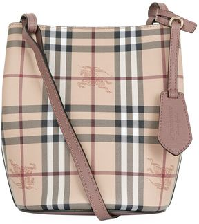 Burberry Small Lorne Bucket Bag - PURPLE - STYLE