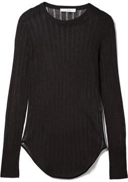 IRO Skogik Metallic Pointelle-knit Top - Black