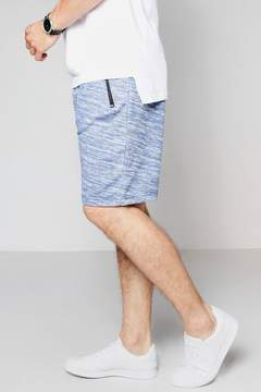 boohoo Jersey Space Dye Shorts In Mid Length