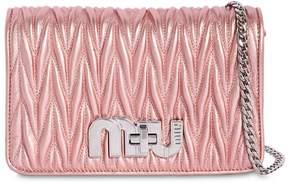 Miu Miu Small My Miu Quilt Metallic Leather Bag