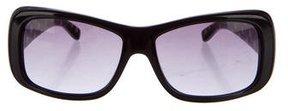 Miu Miu Polka-Dot Narrow Sunglasses