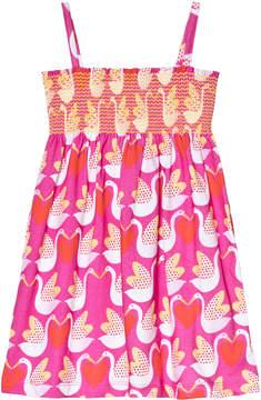 Agatha Ruiz De La Prada Pink Goose And Heart Print Strappy Dress