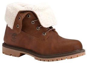 Timberland Women's Authentics Teddy Fleece Waterproof Fold-Down Boot
